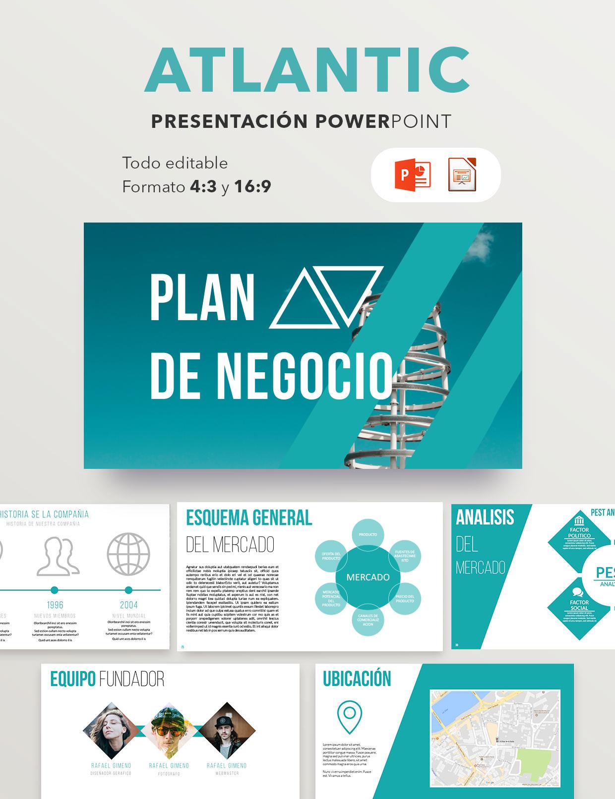 Plantilla Premium Plan De Empresa Atlantic Modelo Presentación